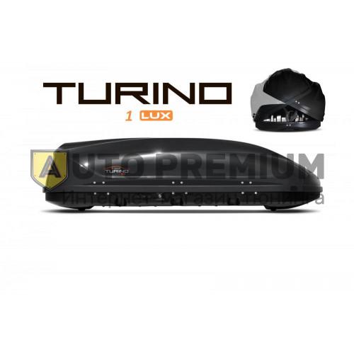 Автобокс на крышу Черный Turino 1 LUX (410 л) Аэродинамический с двусторонним открыванием на крышу автомобиля