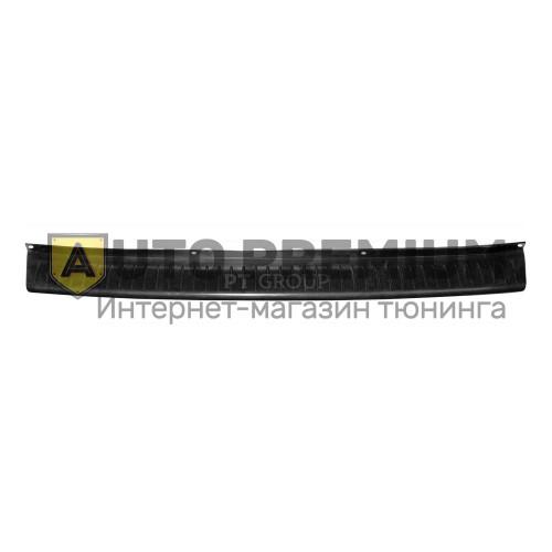 Накладка на задний бампер (черное тиснение) (ABS) UAZ PATRIOT 2014-